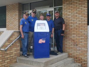 Retired Flag Drop Box at Municipal Building